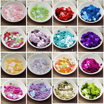 150Pcs New 10mm Round Loose Sequins Paillettes DIY Sewing Wedding Dress Costume