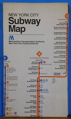 Map New York City Subway Map 1979 Metropolitan Transportation Authority
