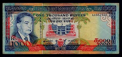 Mauritius Banknote 1000 Rupees 1991  VF