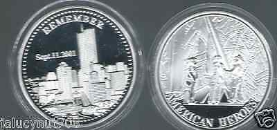 Remember~American Heroes~ September 11, 2001~ Silvercommemorative Coin