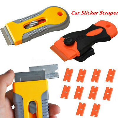 Plastic Car Sticker Remover Edge Blade Razor Scraper Set Window Spatula Tools