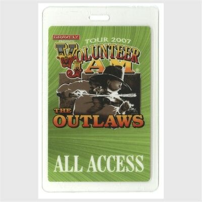 Charlie Daniels Band authentic 2007 concert Laminated Backstage Pass The Outlaws
