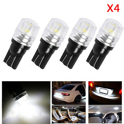 4pcs T10 194 168 W5W COB LED Car Wedge Tail Side Parking Light Globe 12V - WHITE