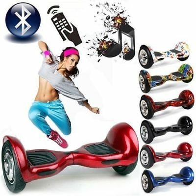 Hoverboard 10 Pollici Balance Overboard Scooter Bluetooth Led Garanzia 24 Mesi