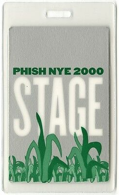 Phish authentic 2000 concert tour Laminated Backstage Pass New Year's Eve