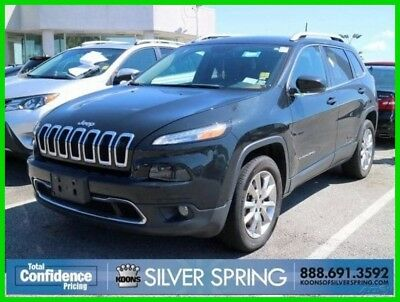 2016 Jeep Cherokee Limited 2016 Limited Used 2.4L I4 16V Automatic SUV Moonroof Premium