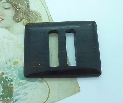 Large Vintage Brown Wooden Belt Buckle