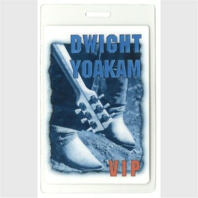 Dwight Yoakam authentic 2001 concert tour Laminated Backstage Pass VIP