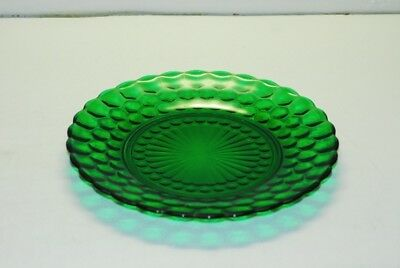 Anchor Hocking BUBBLE GLASSS Forest Green DINNER PLATE PLATES 9 3/8 Inch