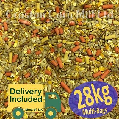 30kg Gourmet 'ZERO' Grow WILD BIRD MIX with Sunflower Hearts, Suet & Mealworms