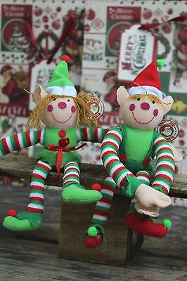 Plush Christmas Elf Soft Toy ~ Boy Design Vary