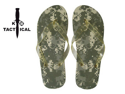 Miltec Digital Camo Flip Flops. Size 10, Outdoor, Camping, Wash Gear, Survival