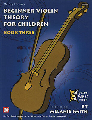 Beginner Violin Theory for Children Book 3 Music Book