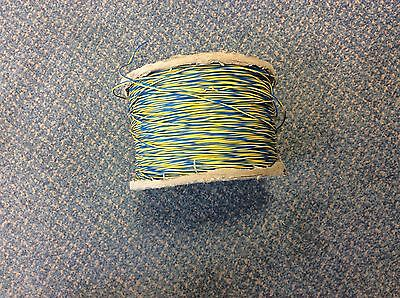 450m Roll of 2 Wire Blue/Yellow Telephone Jumper Wire - INC VAT