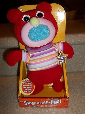 New Fisher-Price Red Sing-A-Ma-Jigs Blue Mouth Oh Where Has My Little Dog Gone