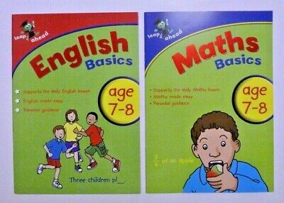 New, Leap Ahead Maths & English Workbook, For Children/Kids Ages 7-8 Year, KS 2
