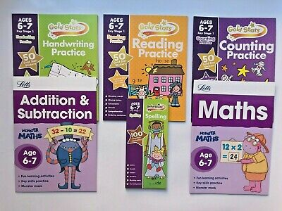 Home Schooling Numeracy Literacy Bundle of 5 Workbooks Children Age 6-7 KS1 Yr2