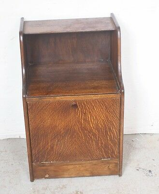 British Import Antique Drop Front Bedside Cabinet Nightstand End Table ENGLAND