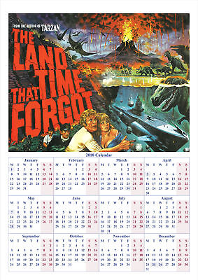 The Land That Time Forgot - 2018 A2 POSTER CALENDAR **LATEST BUY 1 GET 1 FREE**
