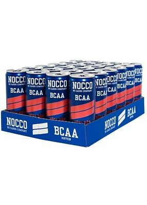 NOCCO BCAA Drink 24 x 330ml Cans - Red Berries (180mg Caffeine)
