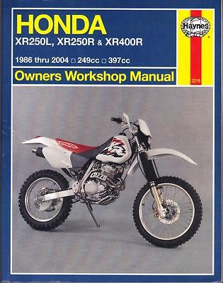 Honda Xr250 L,xr250 R,xr400 R Haynes Workshop Manual 1986-2004