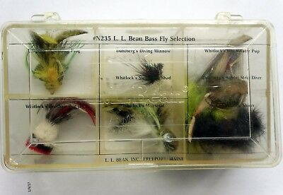 Vintage LL Bean Bass Fly Selection N 235 9 Hand Made Original Case Unused