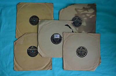 Lot de 5 disques 78 tours Columbia (Six swingers, Lucienne Boyer, Marie Dubas)