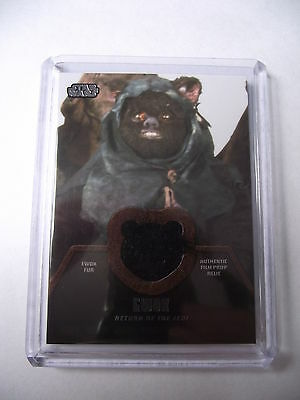 2013 Star Wars Jedi Legacy - Black Ewok Fur Relic Card