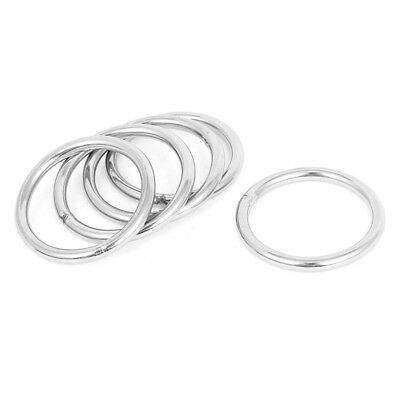 5 Pcs 40mm x 4mm Stainless Steel Webbing Strapping Welded O Rings G3O9