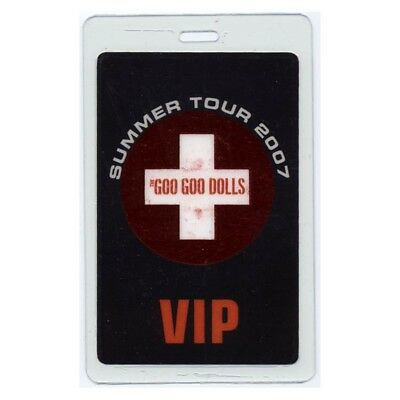 Goo Goo Dolls authentic 2007 concert Laminated Backstage Pass Summer Tour VIP