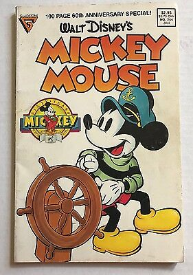 Walt Disney's Mickey Mouse Comic 60th Anniversary Special #244 Jan 1989 100 Page