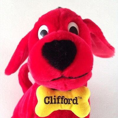 """Plush Clifford the Big Red Dog Kohl's Cares For Kids  14"""" Bone Collar"""