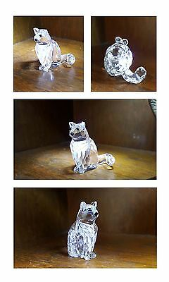 Gattino - gatto - cat in cristallo Swarovski 4x4 cm