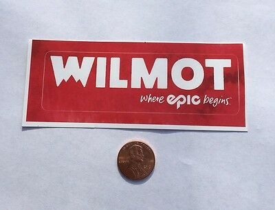 Wilmot Mountain WI Red Sticker Decal Snow Ski Snowboard Where Epic Begins