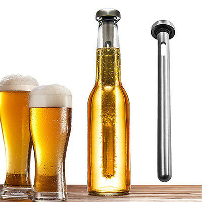 Stainless Steel Wine Liquor Chiller Cooling Cooler Ice Stick Rod In-Bottle Beer