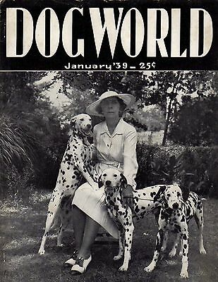 Dog World Magazine January 1939, Dalmatian Cover