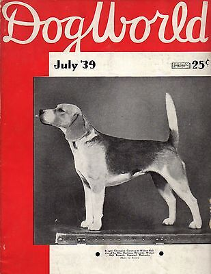 Dog World Magazine July 1939, Beagle Cover, History