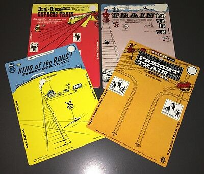 1972 Midgetoy Unused Dicast Train Playset Hang Cards - Midgetoy Archives - Mint!