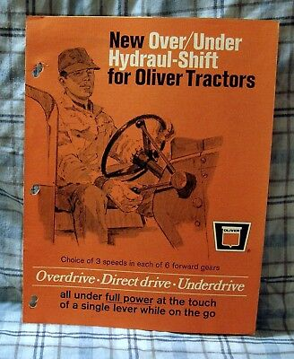 Vintage Oliver Corporation Hydraul-Shift Feature Advertising Brochure - Ca 1978!
