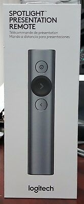Brand New Sealed Logitech Spotlight Presentation Remote Grey color