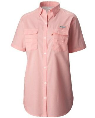 "New Womens Columbia  PFG ""Bonehead II"" Short Sleeve Fishing Shirt"