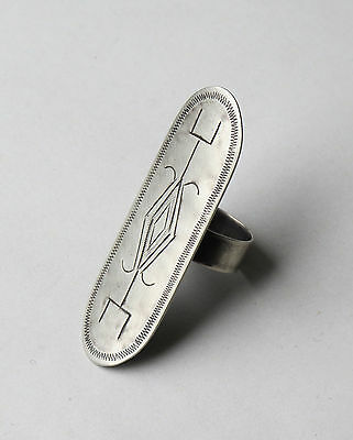 RING - engraved.... GERMAN SILVER.... REPRODUCTION....
