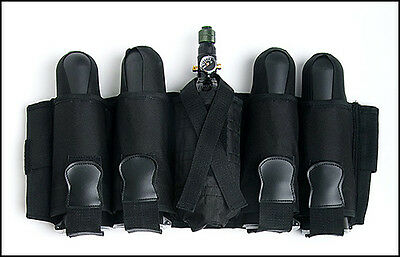 Black 4+1 Pod Ejector Tank Pack Harness WITH 4-130 Round Pods NEW