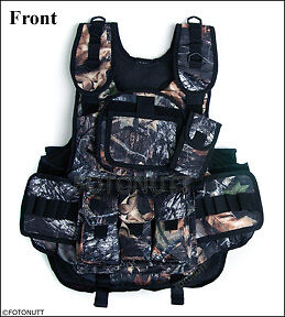 Real WOODLAND CAMO 4+1 TACTICAL VEST Paintball Harness