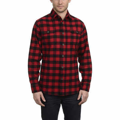 JACHS Men's Brawny Flannel Shirt - RED (Select Size) * FAST SHIPPING *
