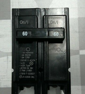 Cutler-Hammer (BR260) Circuit Breaker* $3 Ship First Breaker, $1.50 Thereafter *