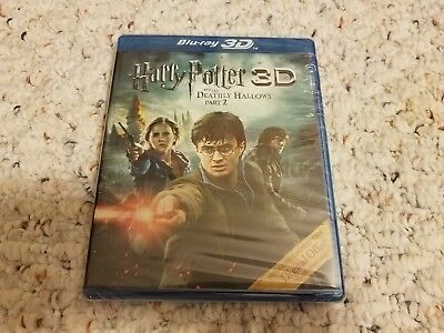 New Harry Potter and the Deathly Hallows: Part II 2 3D (Blu-ray, 2012, 3D & 2D)