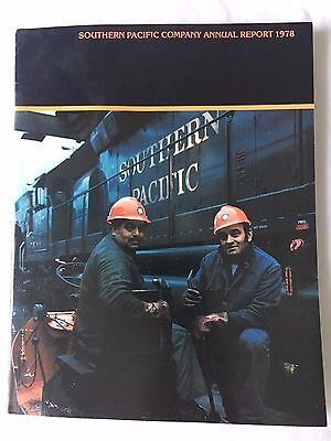 Vintage Original 1978 Southern Pacific Company Annual Report Softcover 36 pages