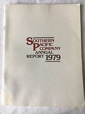 Original Southern Pacific Company Annual Report 1979 48 pages