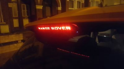 Range Rover Evoque Spoiler Brake Light 'Range Rover' Carbon Fibre Vinyl Stick On
